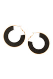 Wood Hoop Earrings
