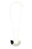 Two Tone Fan Tassel Necklace