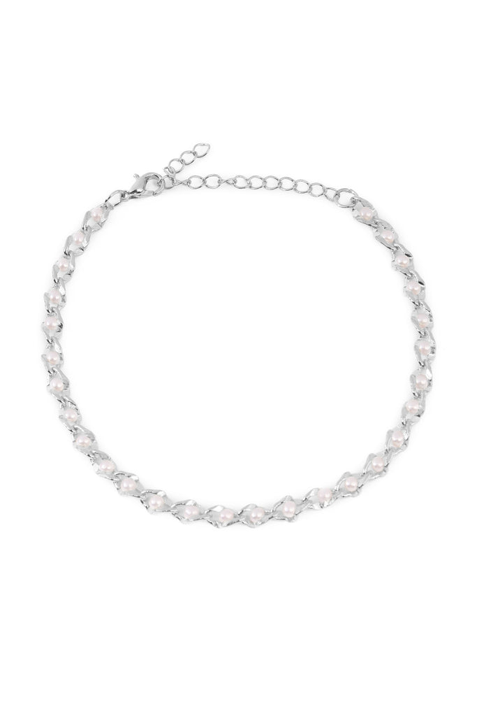 Acrylic Pearl Chain Anklet