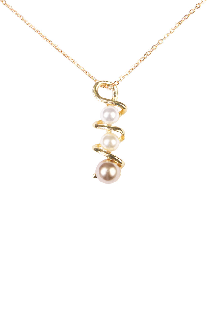 Twisted Pearl Pendant Necklace Set
