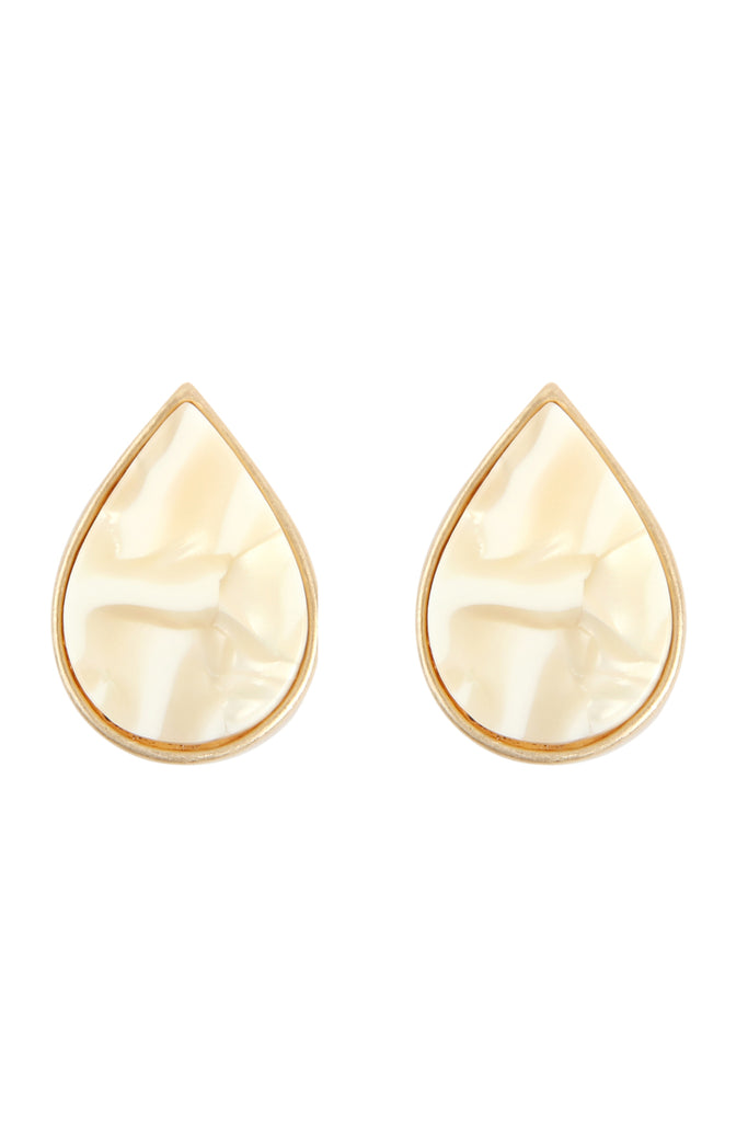 AE4938 - ACETATE TEARDROP STUD EARRINGS
