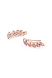 Oval Ear Crawler Earrings