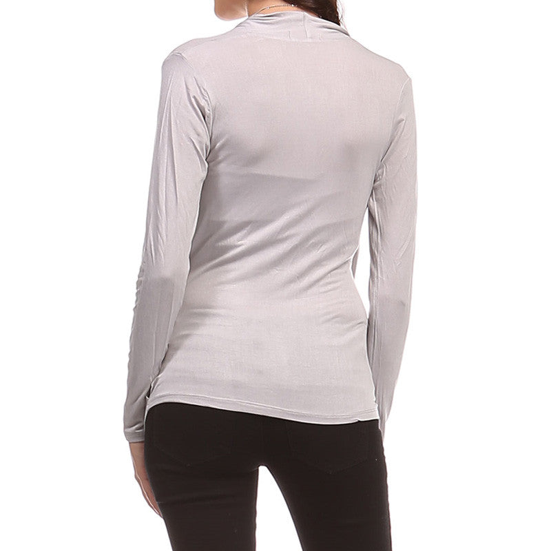 Ruched Surplice Top - 3 Colors