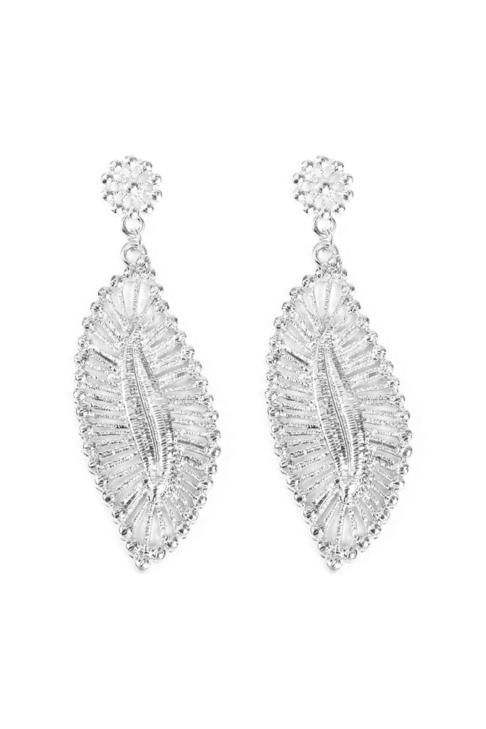 Embellished Marquise Filigree Post Earrings