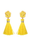 2.5 Inches Epoxy with Tassel Post Earrings