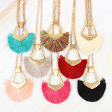Bohemian Inspired Tassel Pendant Necklace