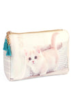 Kitty Print Cosmetic Pouch