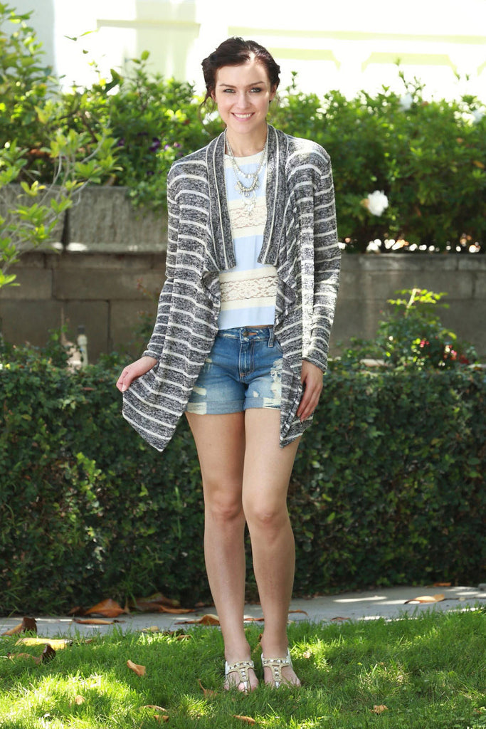 Elbow Patch Open Cardigan