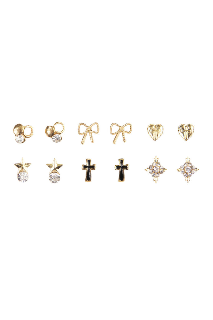 A Unique Six Piece Stud Set