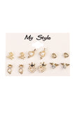 A Cat Six Piece Stud Set - Riah Fashion