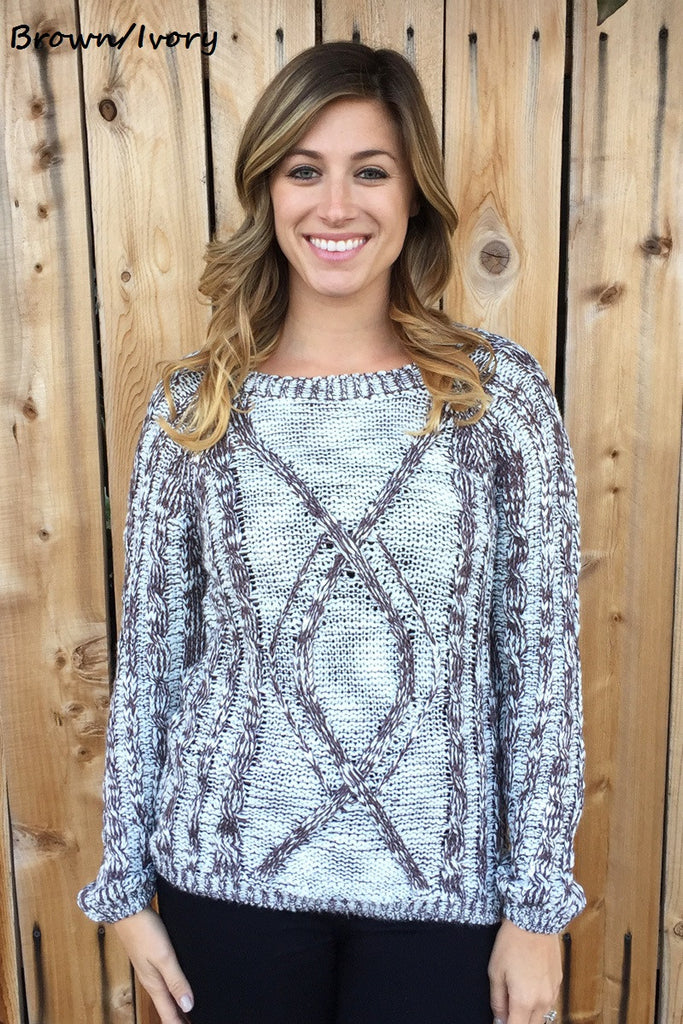 Perfect Winter Knit Sweater-3 Colors!