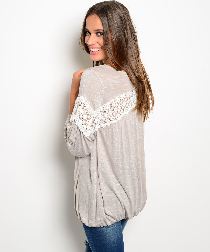 Crochet Chest Line Button Up Top