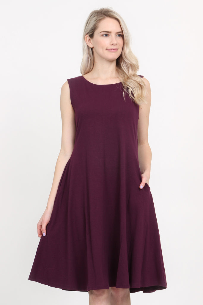 Sleeveless A-Line Dress
