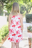 Crochet Trim Floral Tank Dress