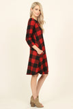 BUFFALO PLAID POCKET DRESS