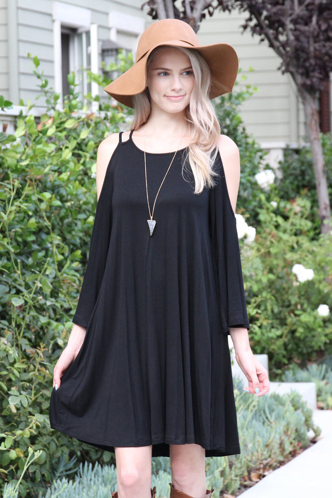 3/4 Sleeve Off-Shoulder Dress