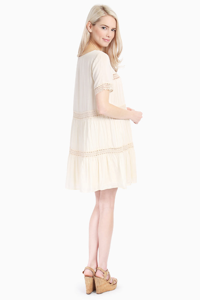 Lace Lightweight Short Sleeve Tunic Dress