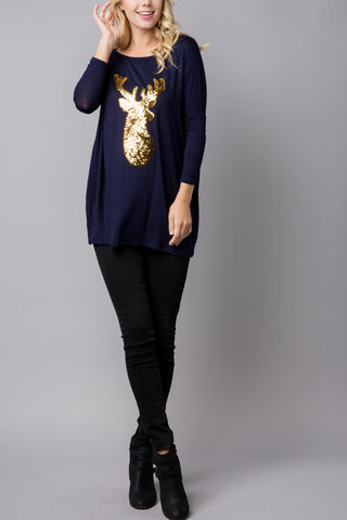 Long Sleeved Lace Button Cuff Top