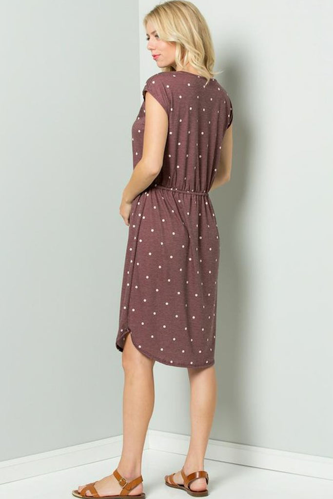 French Terry Polka Dot Pattern Short Sleeves