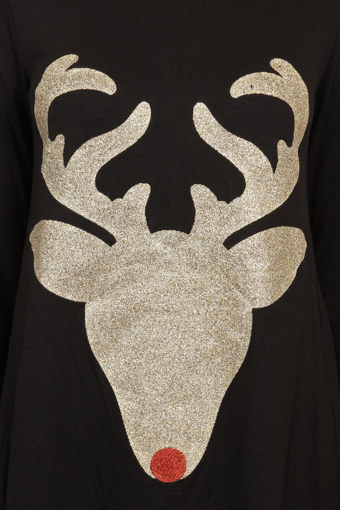 Reindeer Rudolph Glittered Tunic