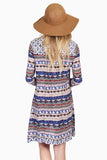 Tribal Print Tassel-Tie Swing Dress