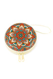 Mandala Pattern Storage Round Case