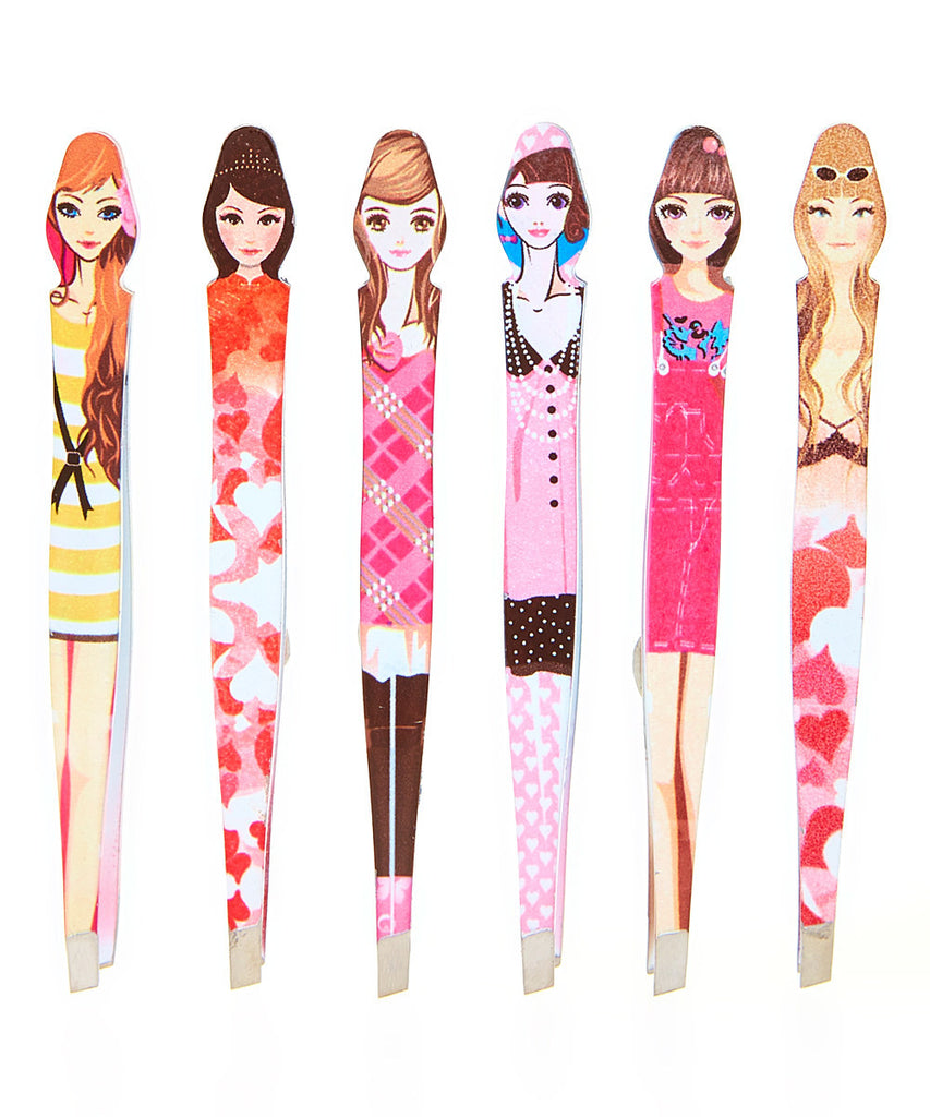 Doll Metal Tweezer - Set of Six