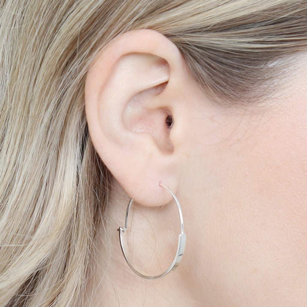 Toggle Hoop Earrings