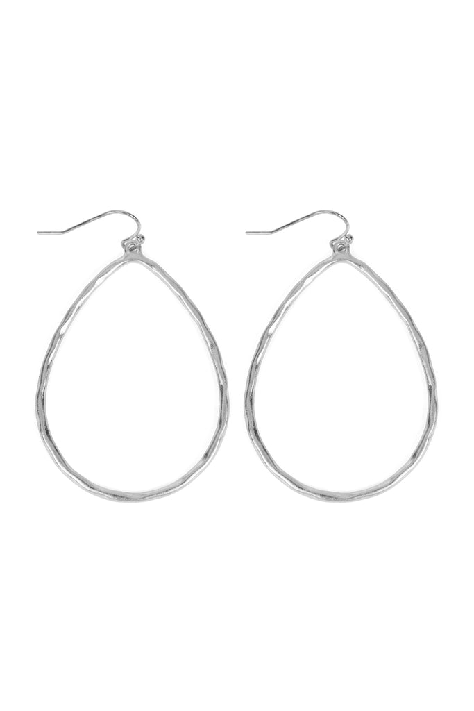 Open Teardrop Hook Earrings