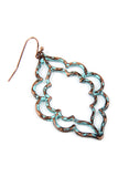 E8354 - HAMMERED CAST EARRINGS