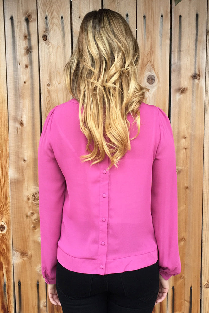 Pintuck Pattern Blouse-4 Colors!