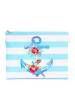 Anchor Print Clutch Bag