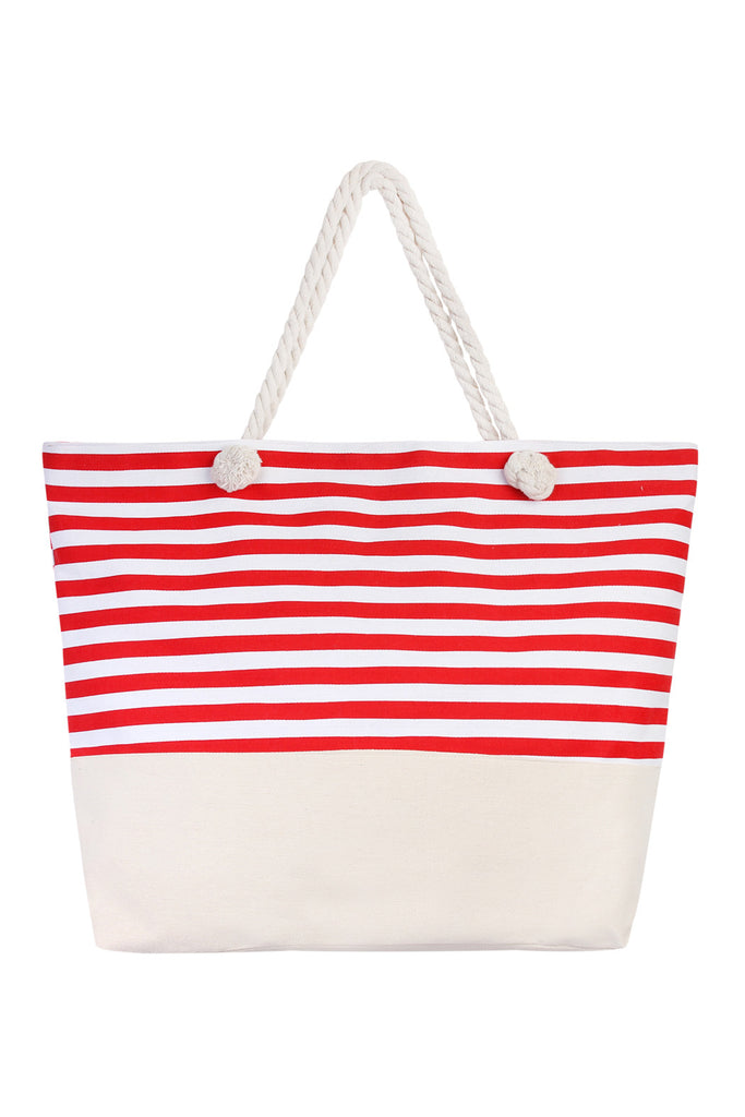 Striped Jumbo Tote Bag