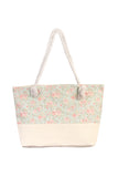 Floral Print Summer Tote Bag