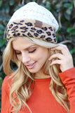 Leopard Knitted Beanie