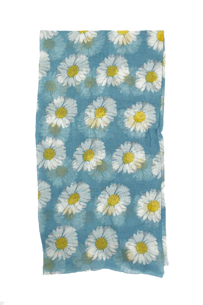 Daisy Floral Infinity Scarf