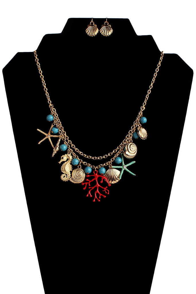 Sea Charm Necklace Set