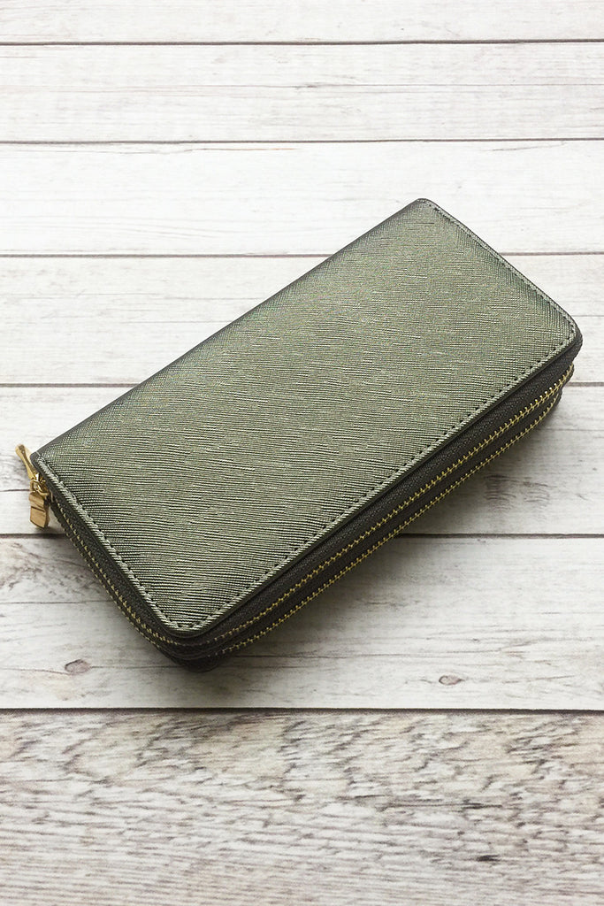 Deux Zipper Wallet