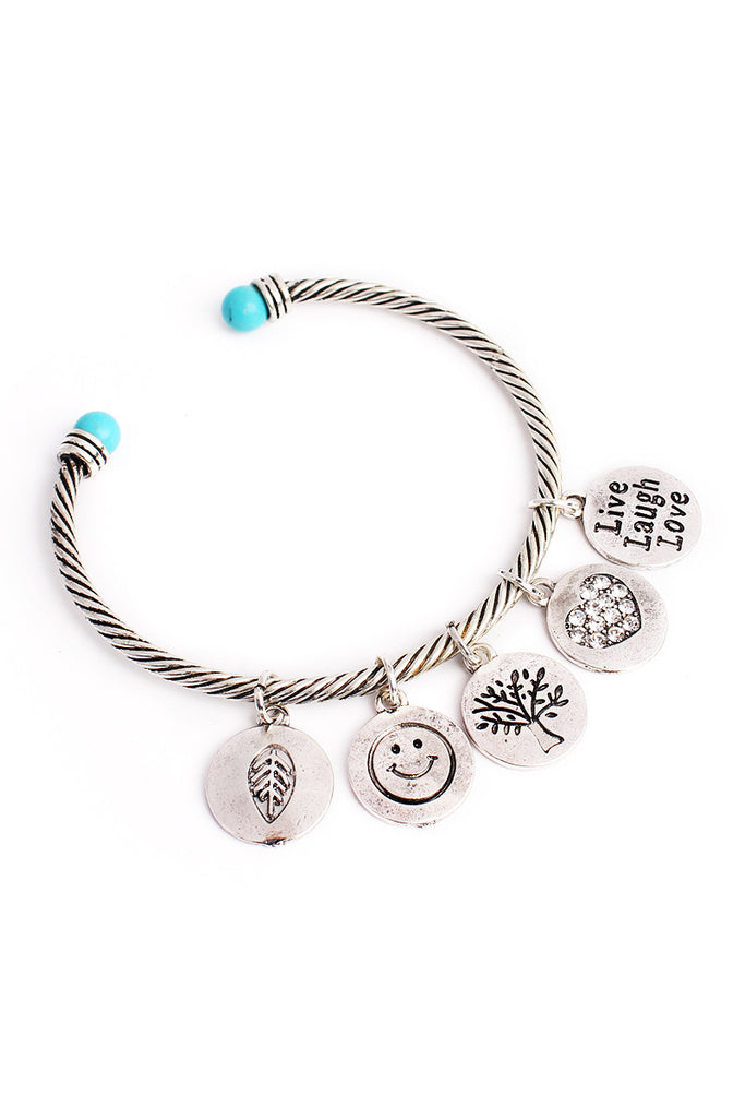 Live, Laugh, Love Cuff Bracelet