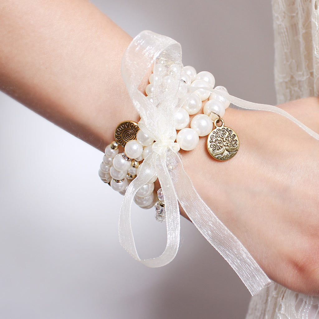 Tree of life pearl bracelet