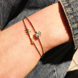 Rhinestone Arrow Cuff Set