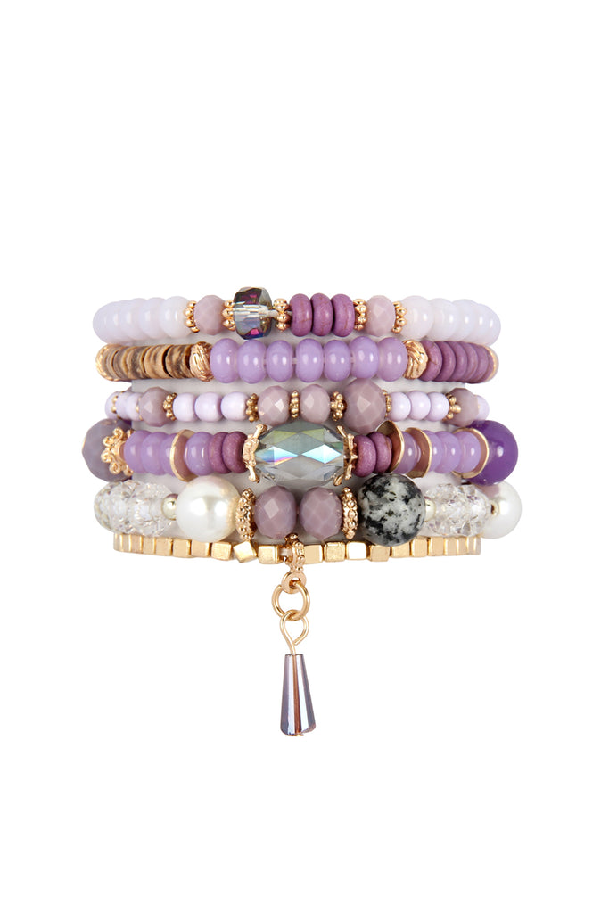 MULTI STONE BEADS STACKABLE BRACELET