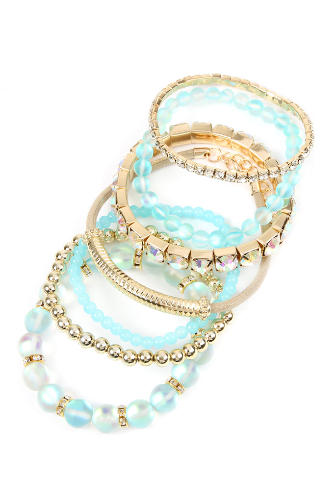 HDB2433 - MERMAID GLASS STRETCH BRACELET