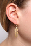 Cut Leaf Drop Earrings
