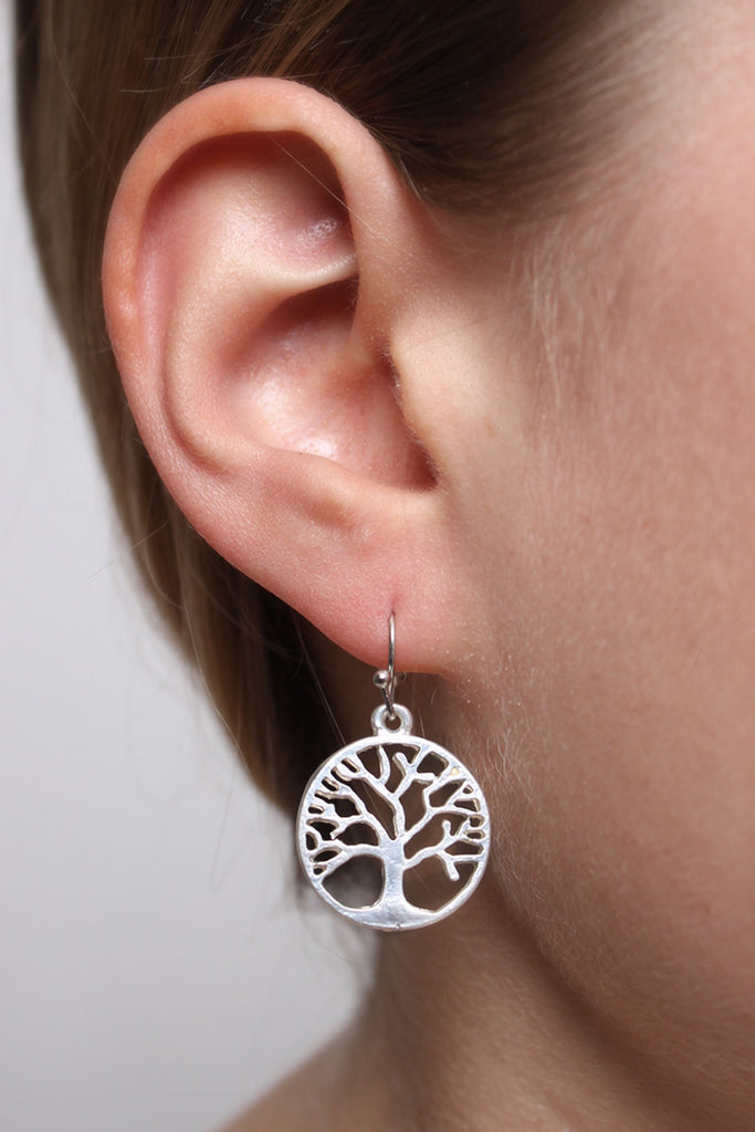 Tree Of Life Round Earrings