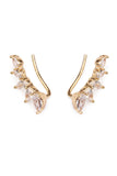 Teardrop Cubic Zirconia Crawler Earrings