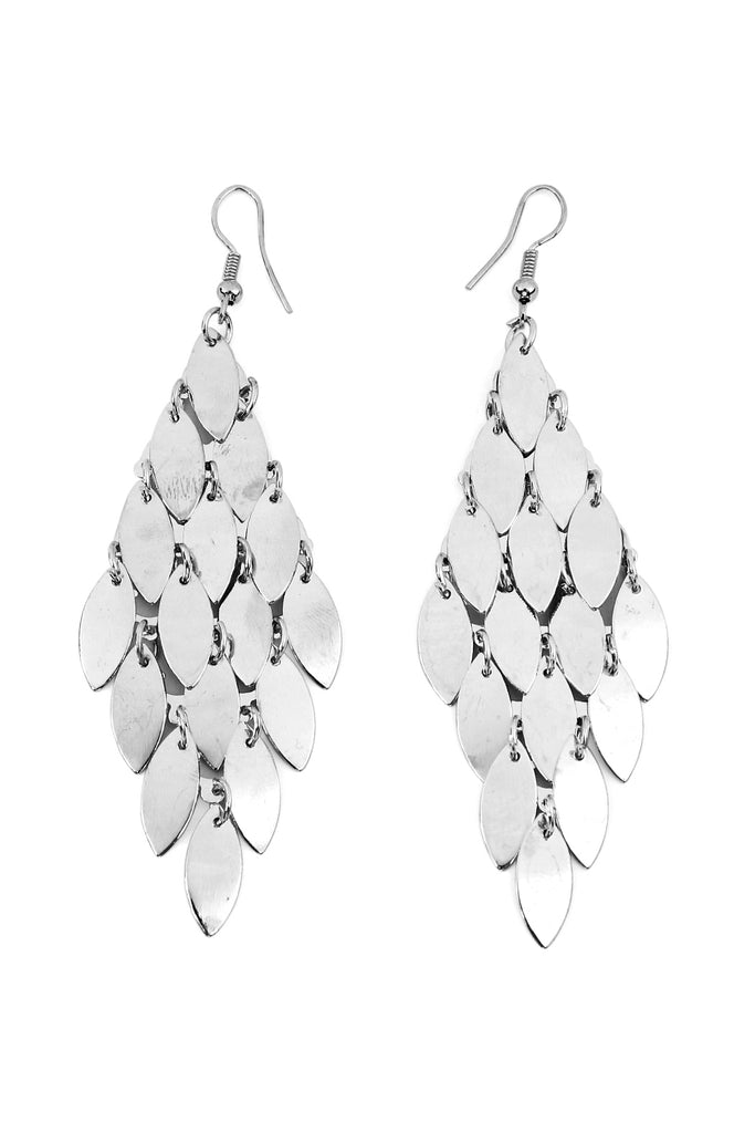 Layered Chandelier Dangling Leaf Earrings