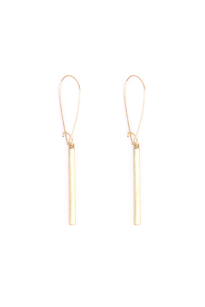 HDE1867 - MATTE SIMPLE BAR EARRINGS