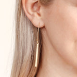 Matte Simple Bar Earrings