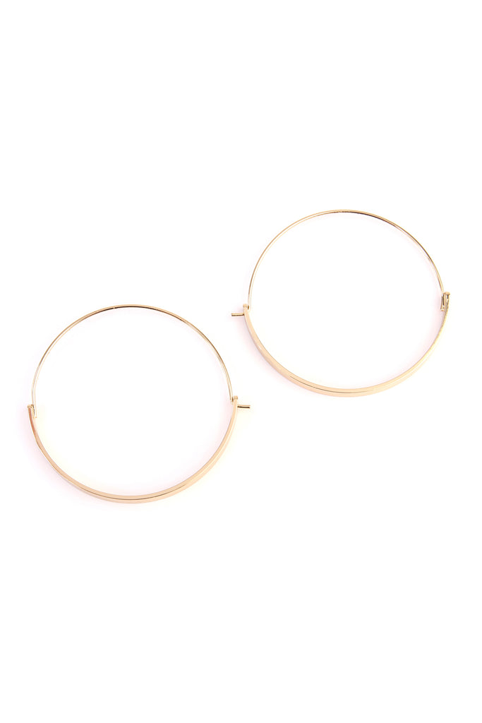 Arc Bar Hinge Hoop Earring